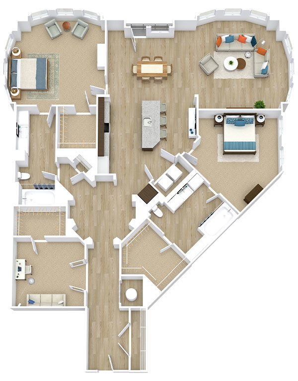 Two Bedroom, Two Bath (C31)