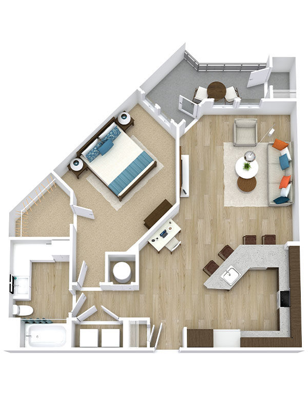 One Bedroom, One Bath (A10)