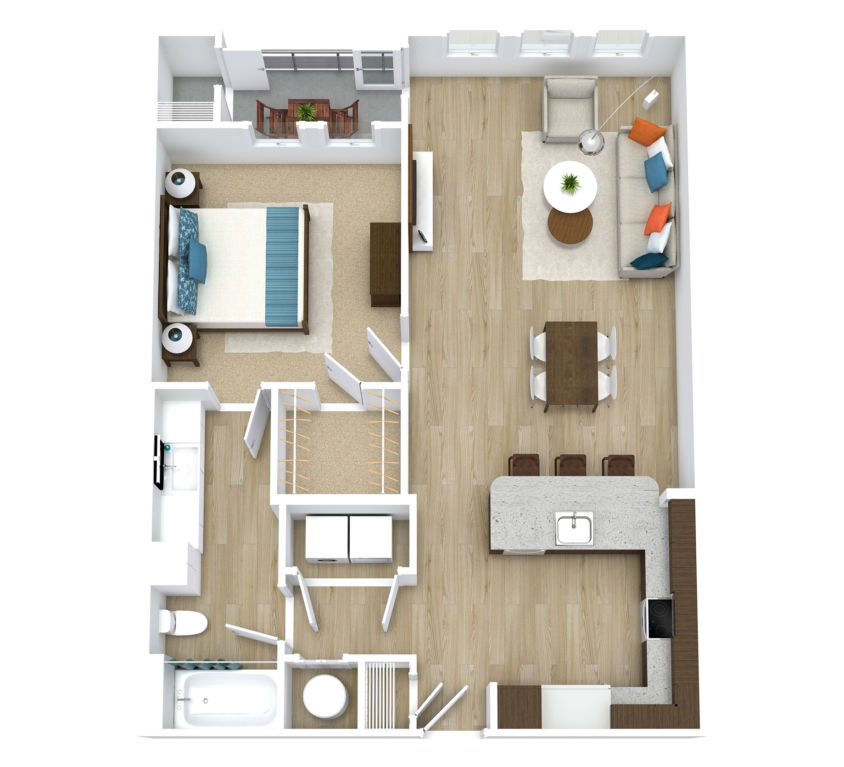 One Bedroom, One Bath (A03)