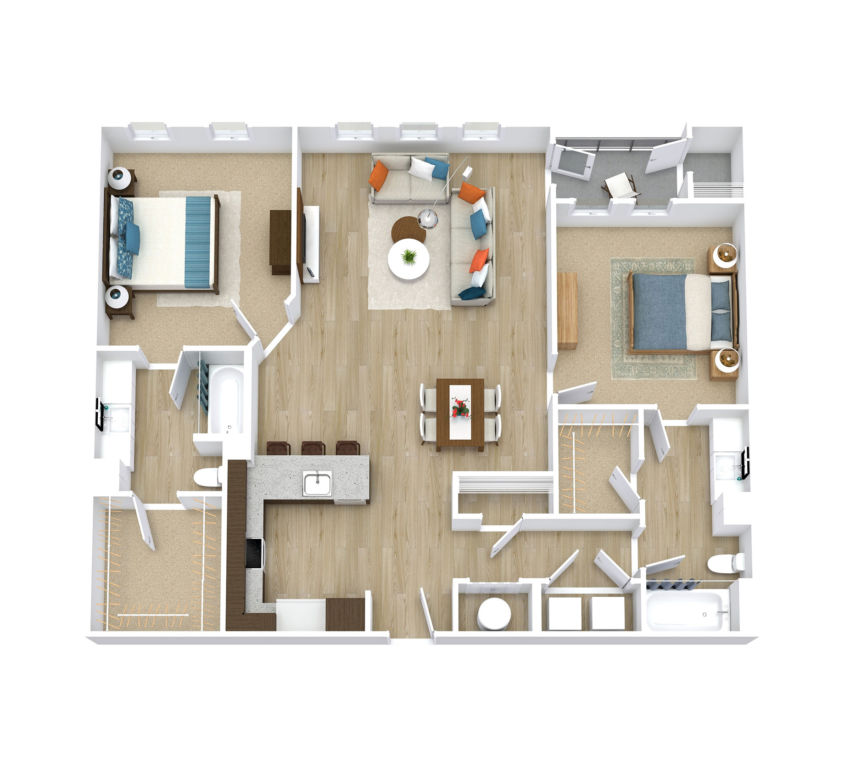 Two Bedroom, Two Bath (C18)