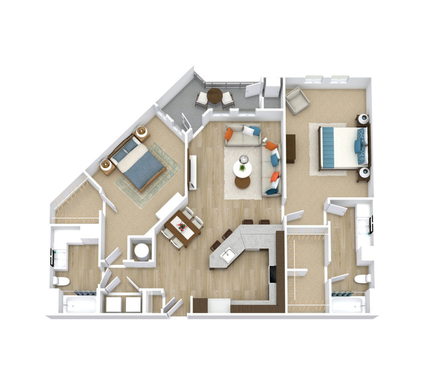 Two Bedroom, Two Bath (C11)