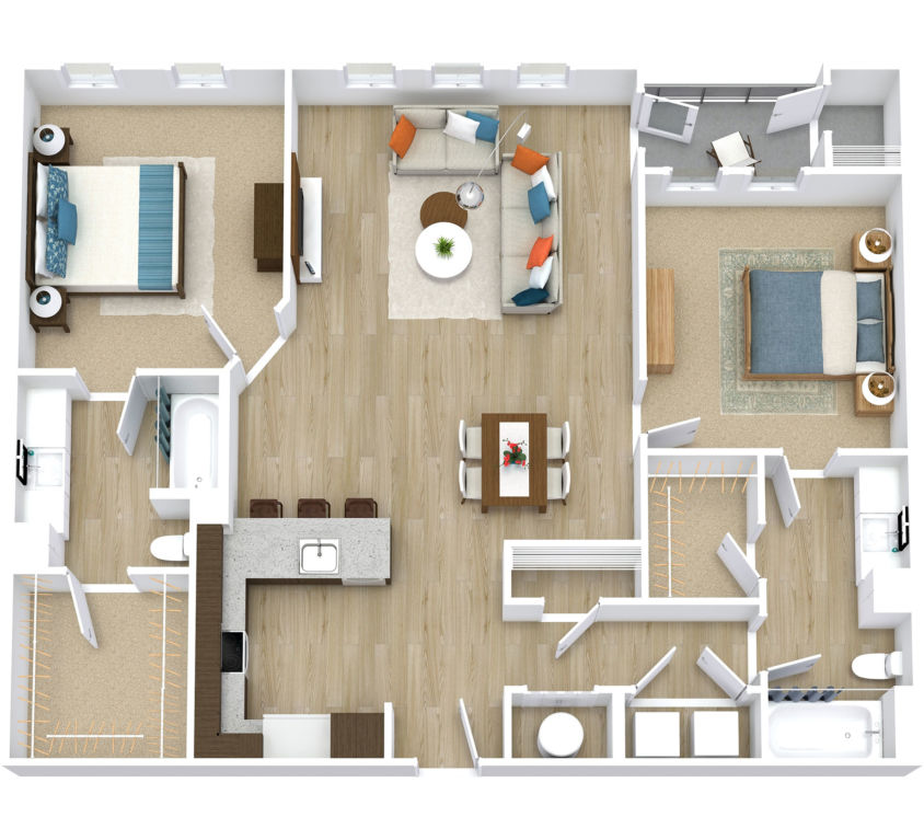 Two Bedroom, Two Bath (C08)