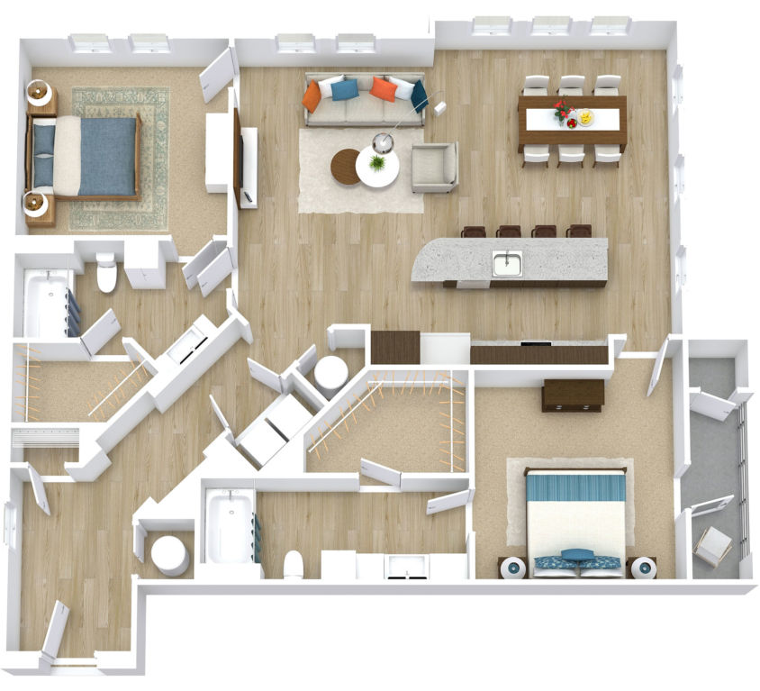 Two Bedroom, Two Bath (C29)